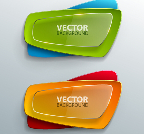 500x467 Modern Layered Banners Vector Material 09 Free Download