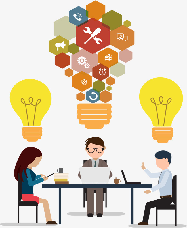 650x790 Puzzle Bulb Business Meeting, Vector Material, Business, Business