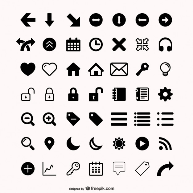 626x626 Assorted Icons Set Vector Free Download