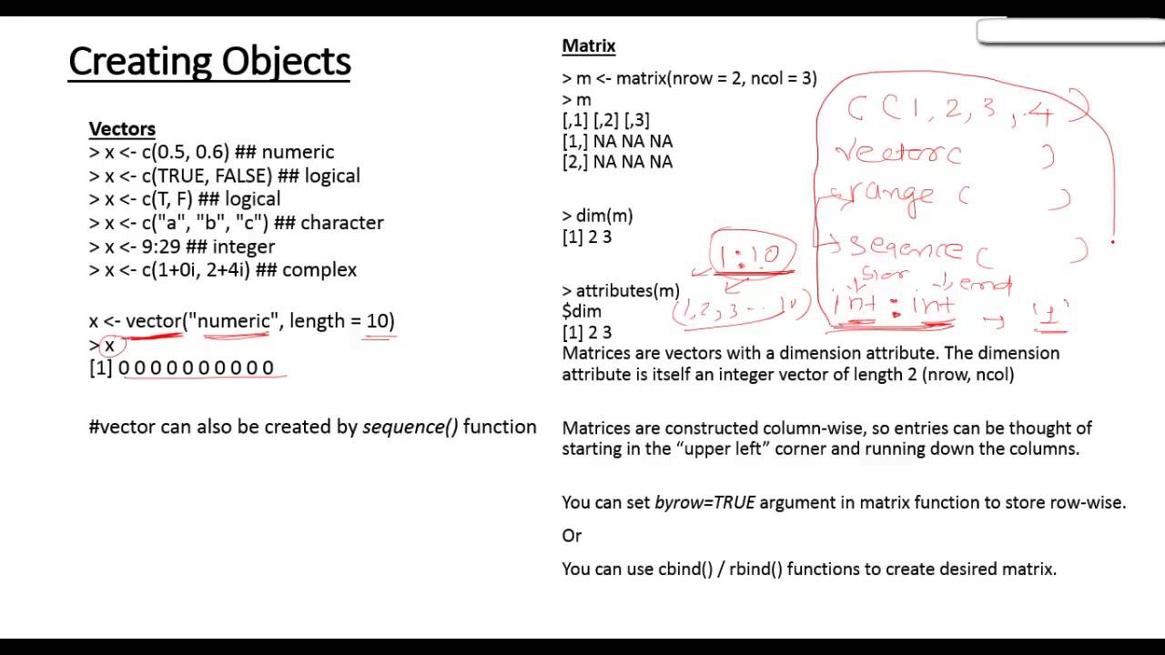 1280x720 Introduction To R Vector And Matrix