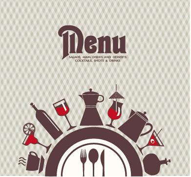 391x362 Modern Restaurant Menu Vector Cover Set 04 Free Download