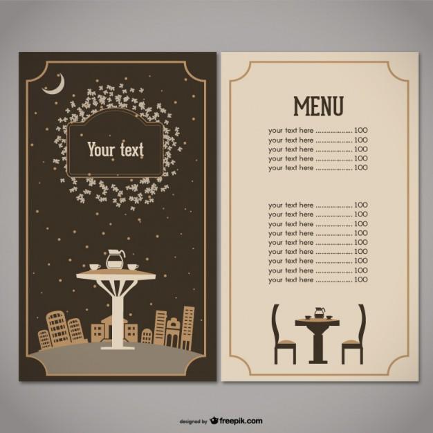 626x626 Restaurant Menu Vector Free Download