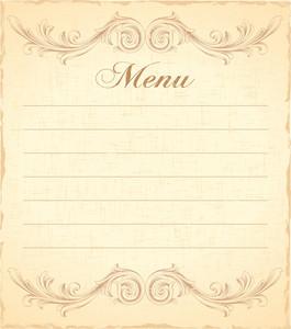 265x300 Vector Vintage Restaurant Menu Royalty Free Stock Image