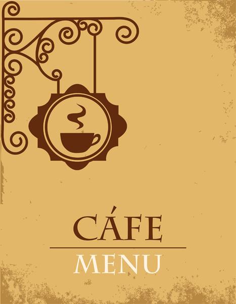 467x600 Vector Of Vintage Cafe Menu Background Art Free Vector In
