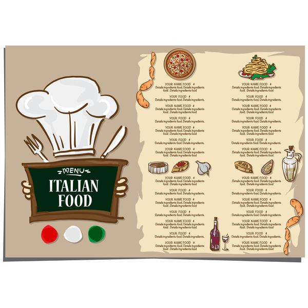 600x600 Italian Food Menu Template Vector Design 07 Free Download