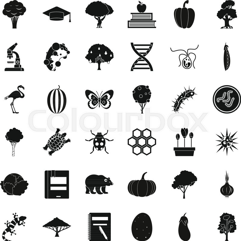 800x800 Microbiology Icons Set. Simple Set Of 36 Microbiology Vector Icons