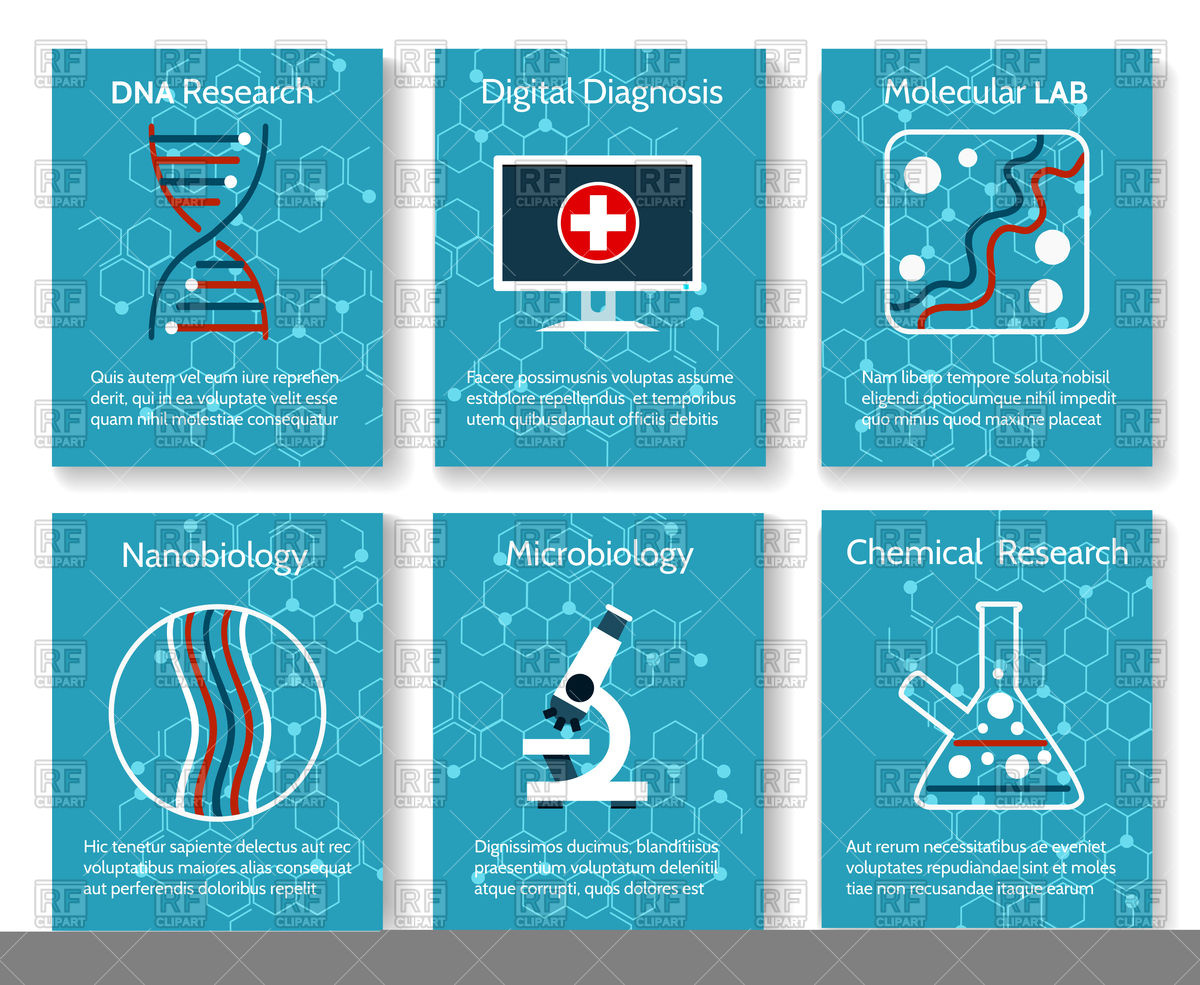 1200x985 Microbiology Research Backgrounds With Microscope, Dna And Flask