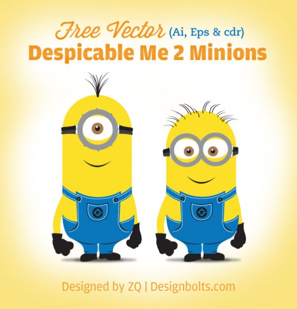 602x626 Yellow Minions Vector Characters Vector Free Download