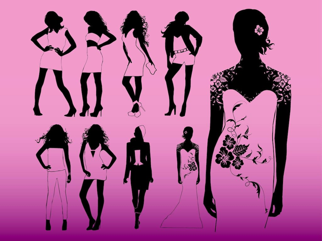 1024x767 Model Girls Vector Art Amp Graphics
