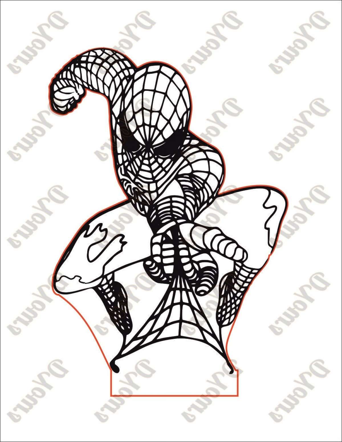 1200x1552 Spiderman Superhero D Lamp Vector Model Shopatcloth
