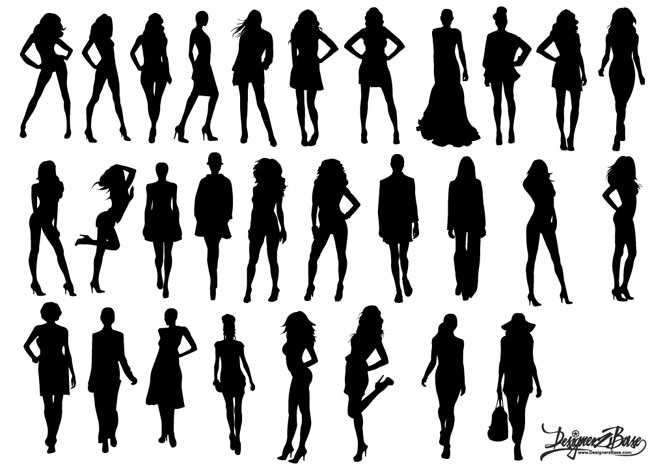 650x468 Vector Fashion Model Silhouettes