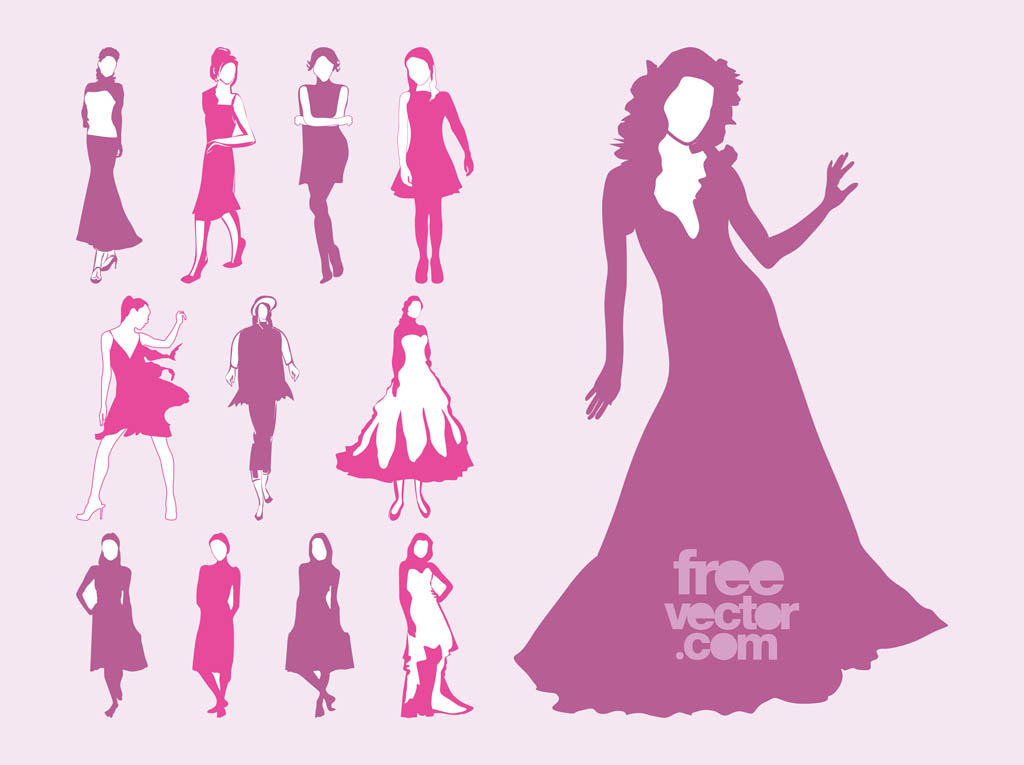 1024x765 Vector Fashion Models Set Vector Art Amp Graphics