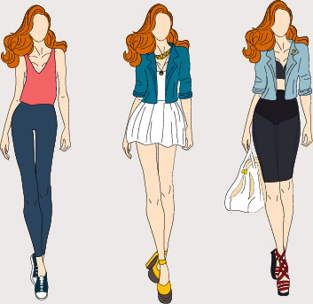 353x343 Vector Fashion Models Free Vector Download (5,131 Free Vector) For