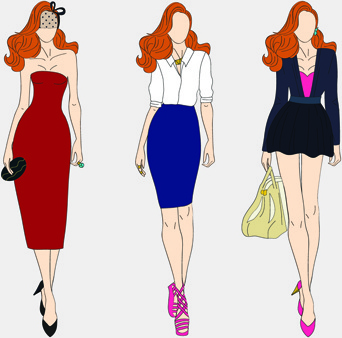342x338 Vector Fashion Models Free Vector Download (5,141 Free Vector) For