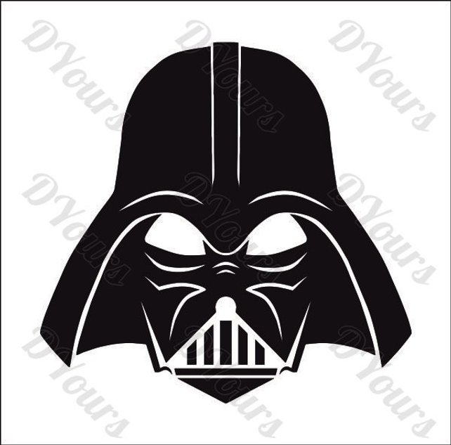 642x633 Darth Vader Star Wars Vector Model Svg Cdr Ai Pdf Eps Files Etsy