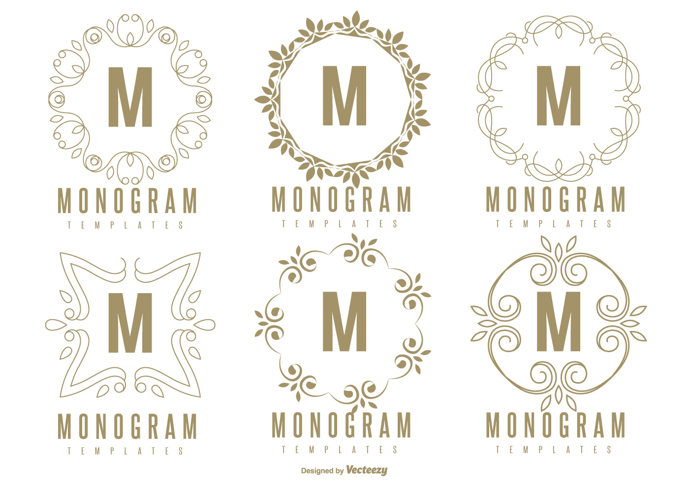 photograph regarding Free Monogram Printable identified as Vector Monogram Producer at  Cost-free for particular person