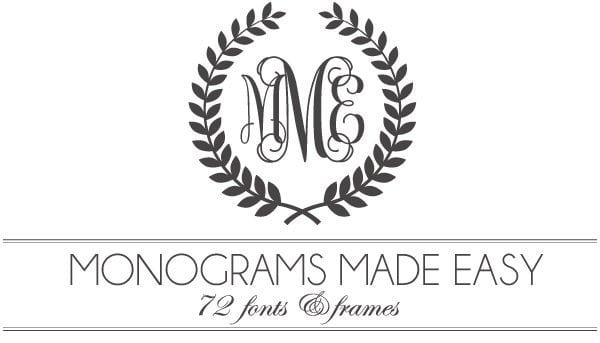 600x343 Monograms Made Easy 72 Fonts Amp Frames Damask Love