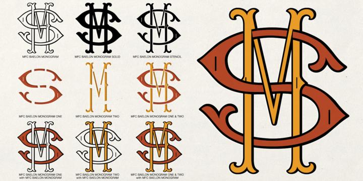 720x360 Monogram Fonts Generator