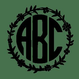300x300 Circle Monogram Font Free. Use Our Free Online Monogram Generator