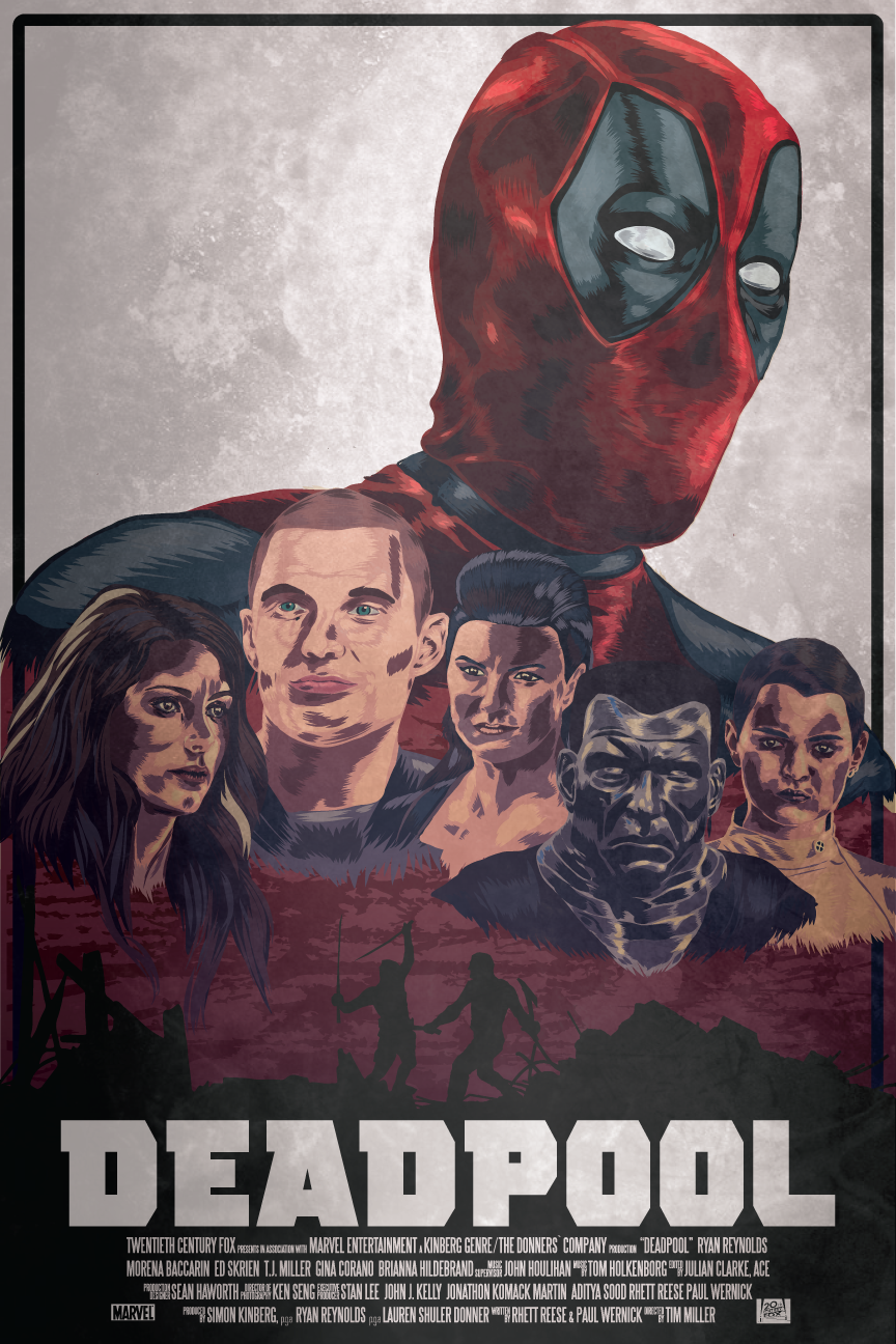 864x1296 Deadpool Vector Movie Poster On Behance