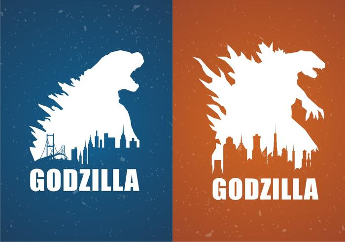 700x490 Godzilla Movie Poster Backgrounds Free Vector
