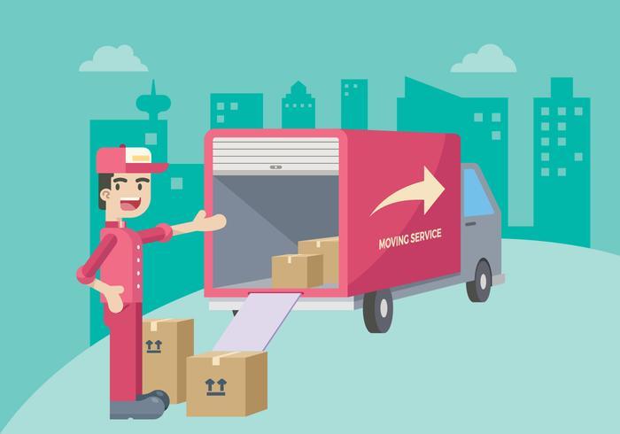 700x490 Moving Service Illustration