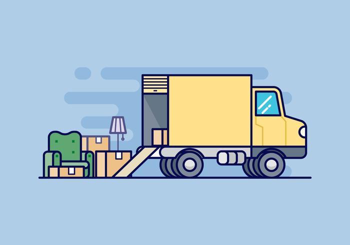 700x490 Moving Van Illustration