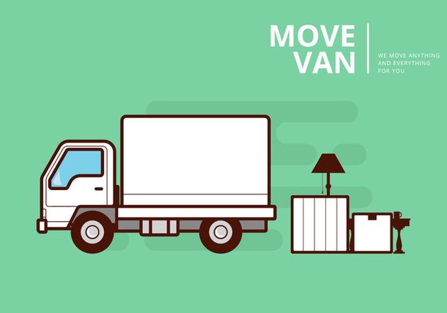 632x443 Moving Van Or Truck. Transport Or Delivery Illustration. Free