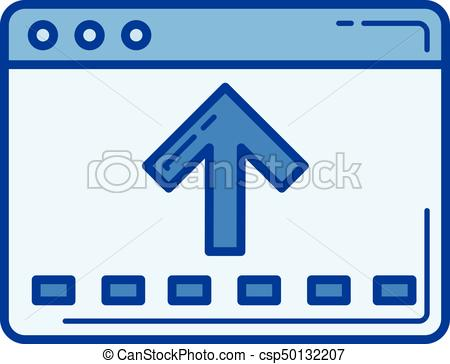 450x364 File Moving Line Icon. File Moving Vector Line Icon Isolated On
