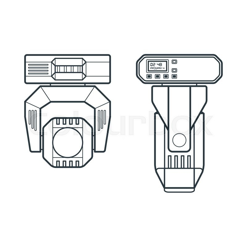 800x800 Vector Concert Entertainment Moving Lighting Head Device Dark