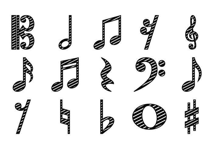 700x490 Music Notes Free Vector Art