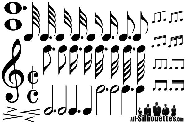 600x400 Music Notes Vector 123freevectors