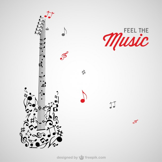 626x626 Music Notes Guitar Vector Free Download