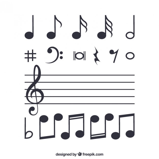 626x626 Musical Notes Vector Free Download