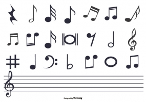 Vector Music Notes Free Download At Getdrawingscom Free