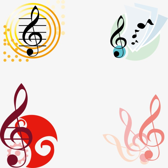 650x650 Vector Musical Notes Decoration, Decoration Vector, Note, Music