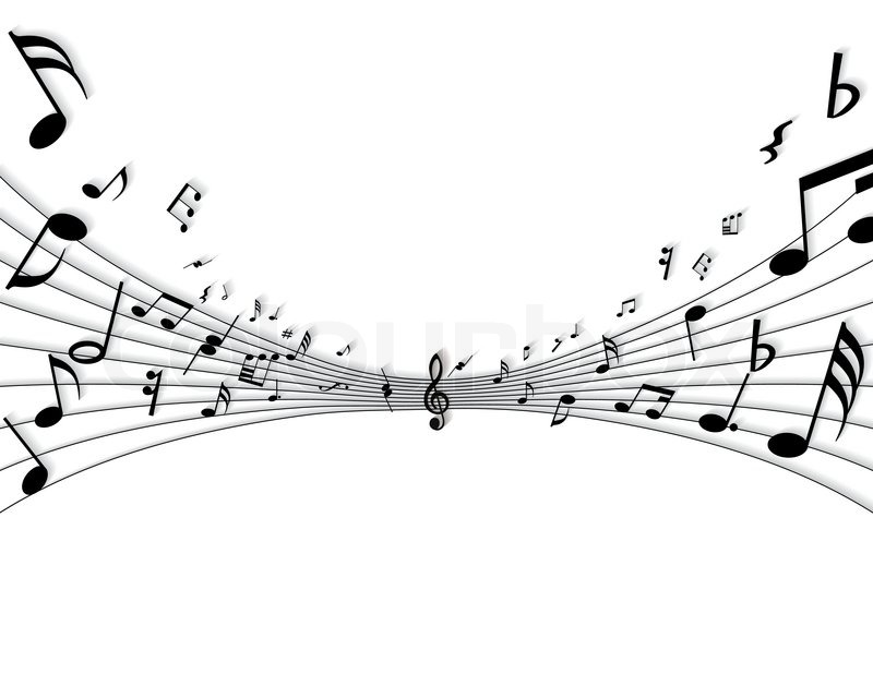 800x640 Vector Musical Notes Staff Background For Design Use Stock
