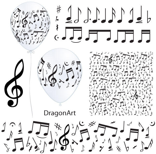 Vector Music Notes Illustrator