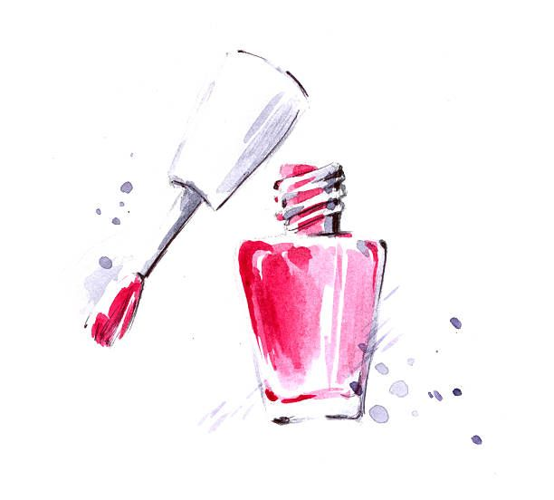 612x552 Nail Polish Vector Art Illustration Nail Spa