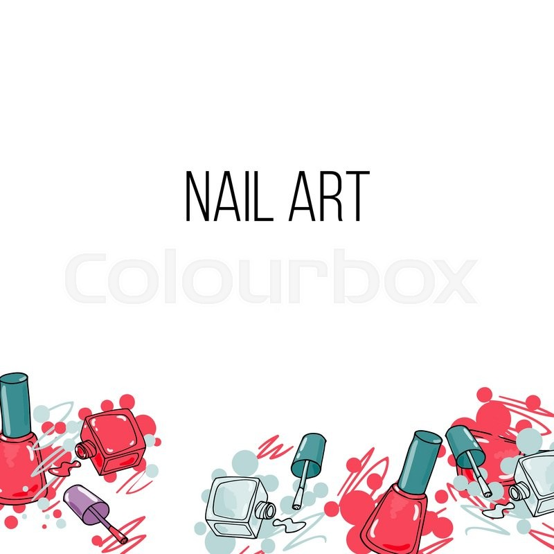 800x800 Vector Nail Lacquer Bottlesand Drops Of Nail Polish On White