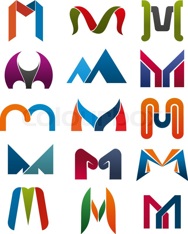 643x800 M Letter Icons Template For Corporate Or Business Company And