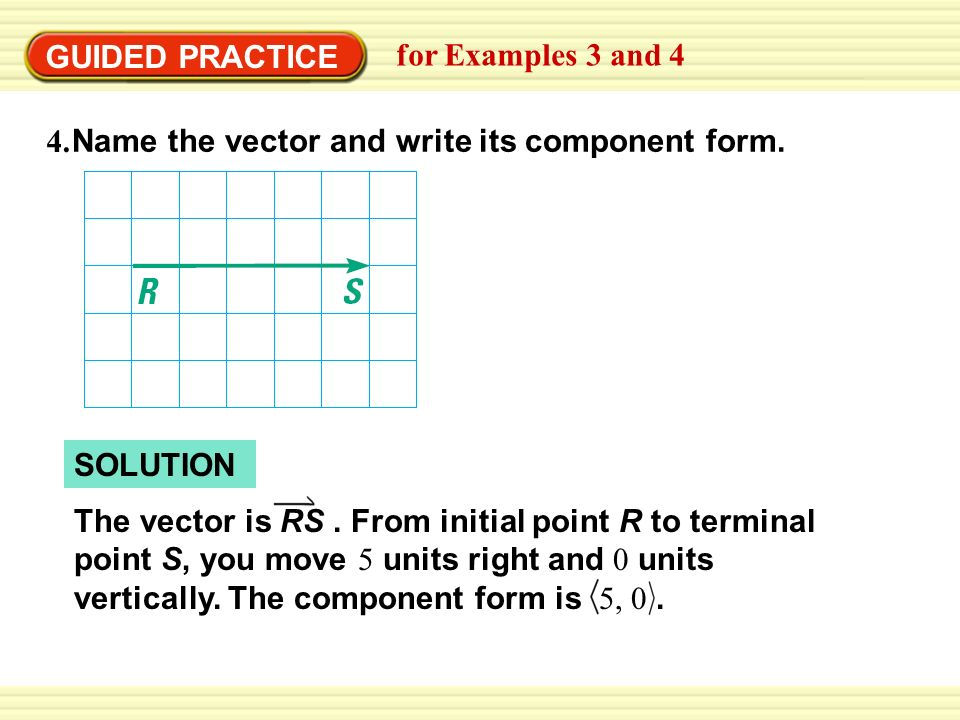 960x720 Name The Vector And Write Its Component Form