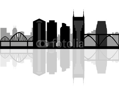 400x291 Nashville Usa City Skyline Silhouette Vector Illustration Buy