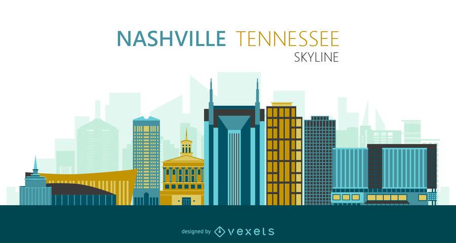 900x481 Nashville Skyline Illustration