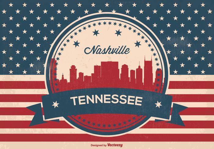 700x490 Retro Nashville Skyline Illustration