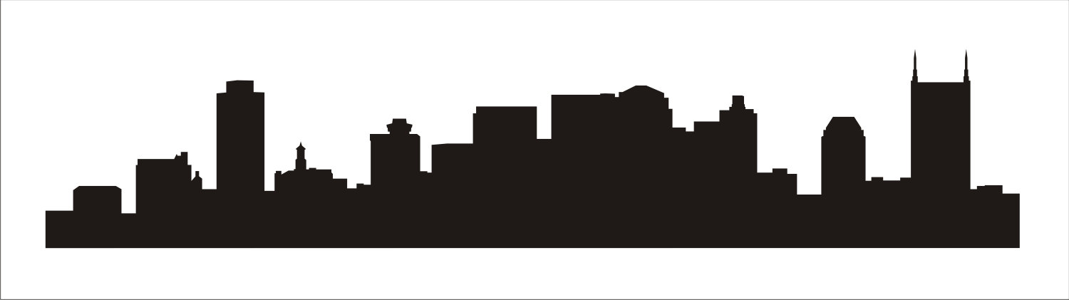1500x421 Skyline Clipart Nashville Skyline ~ Frames ~ Illustrations ~ Hd