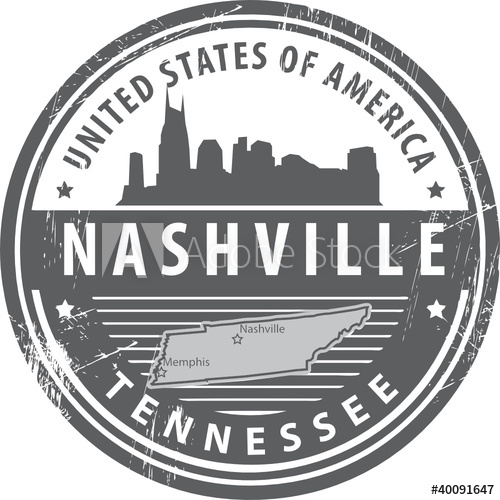 500x500 Grunge Rubber Stamp With Name Of Tennessee, Nashville, Vector