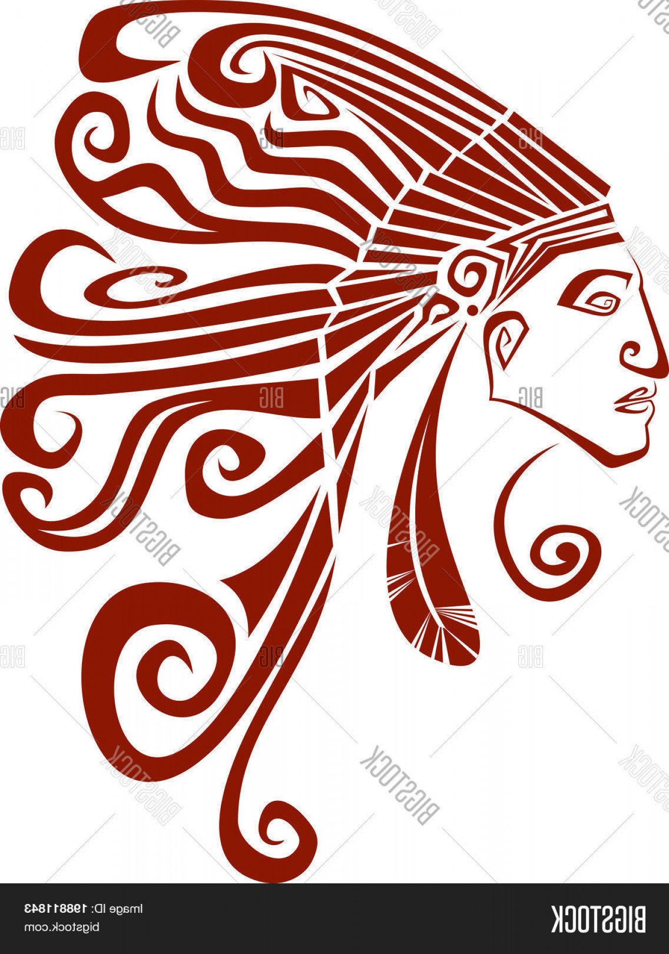 1363x1944 Indian Head Vector Geekchicpro