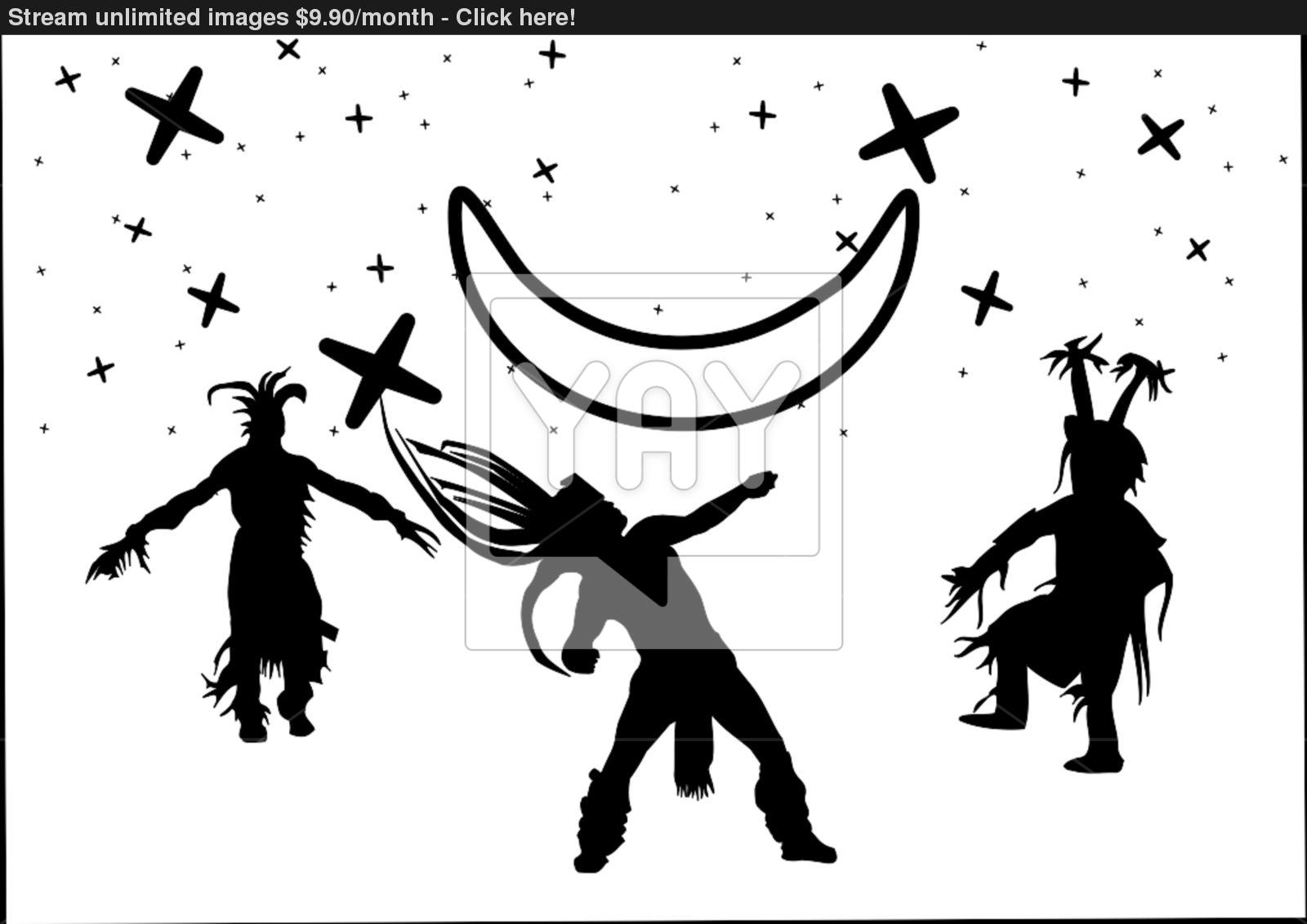 1600x1132 Native American Dancers Vector