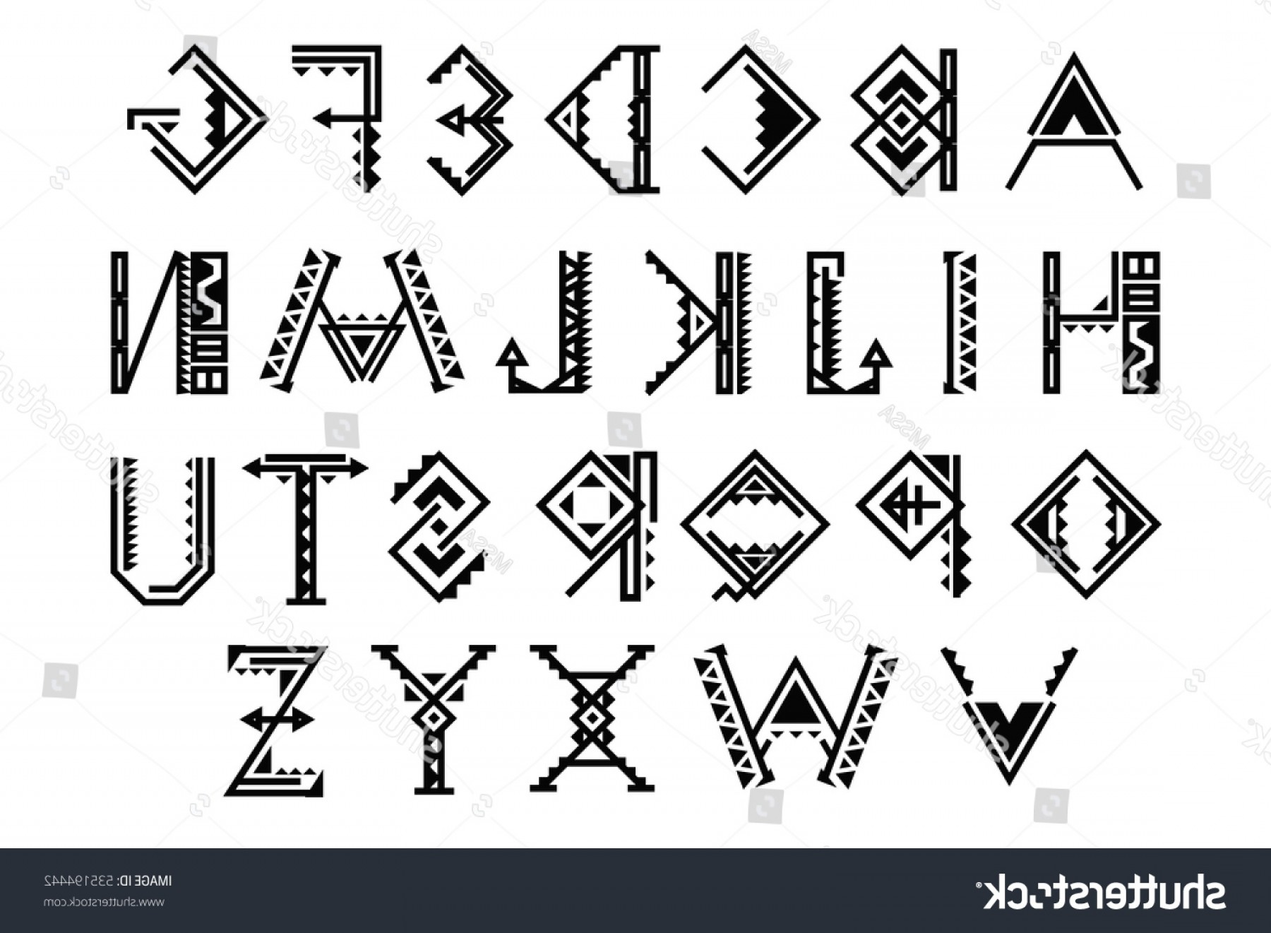 1800x1321 Native American Font Ethnic Font Native American Indian Alphabet